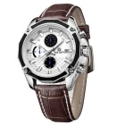 MEGIR 2015 Quartz Analog Wrist Watch for Men - Brown