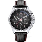 MEGIR 1010 Quartz Analog Wrist Watch for Men - Black