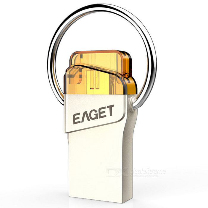 EAGET V66 16GB USB3.0 OTG flash-enhet / disk för Android - silver