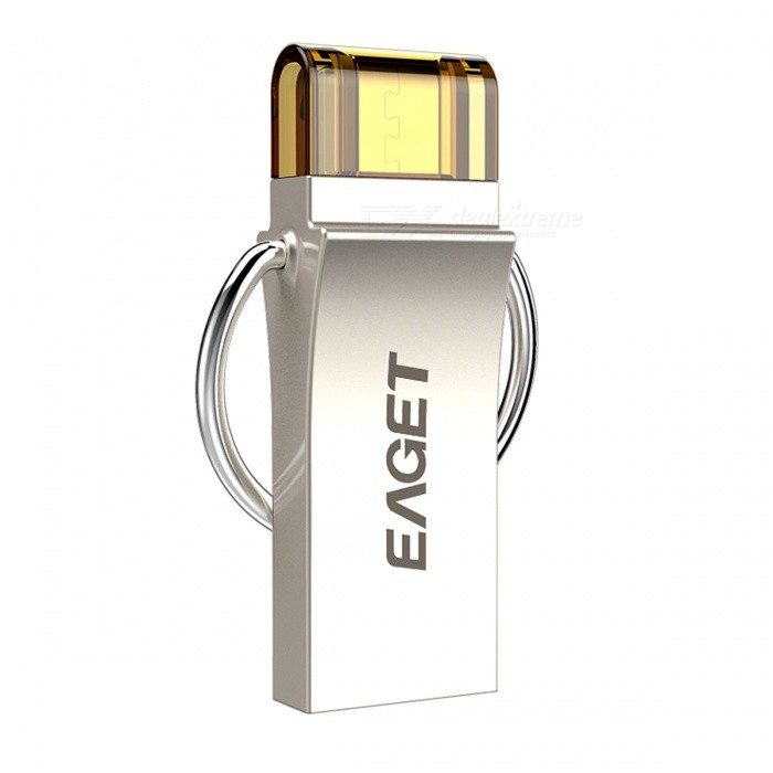 EAGET V90 16GB USB3.0 OTG Flash Drive / Disk for Android - Silver