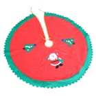 90CM Non-Woven Christmas Tree Skirt Apron Xmas Decoration -Red + Green