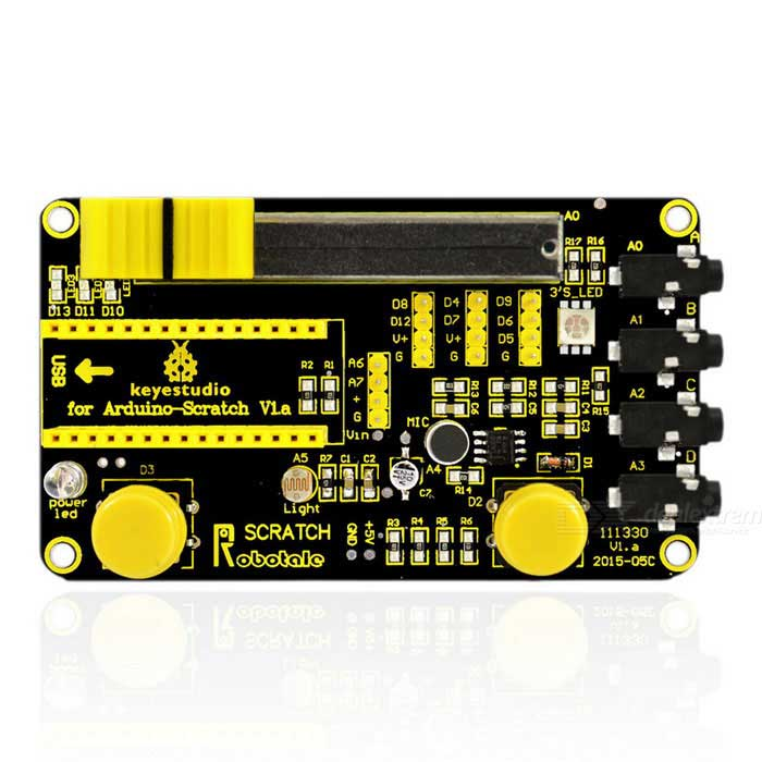 Keyestudio Robotale Scratch Sensor Module Board for Arduino - Black