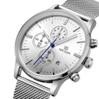 MEGIR MS2011G Analog Quartz Wrist Watch for Men - Silver