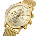 MEGIR MS2011G Analog Quartz Wrist Watch for Men - Golden