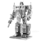 DIY 3D Puzzle Assemble Optimus Prime Robot Model Toy - Silver