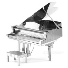DIY 3D Puzzle Assembled Piano Model Puzzle Toy - Silver