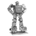 DIY 3D Puzzle Assembly Simulation Bumblebee Robot Model Toy - Silver