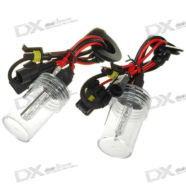 Compact H7 4300K 3200-Lumen Super Vision Xenon HID Vehicle White Light Headlamp Kit (Pair)
