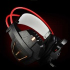 YOBO A5 LED Light USB + 3.5mm Stereo Game Headset w/ Mic - Black + Red