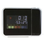 LED Projector Desk Clock  w/ Alarm Clock, Time, Temperature, Humidity, Weather (2 * AAA)