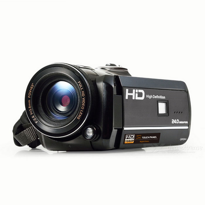 Ordro D395 24MP FHD 1080P IR Night Vision WiFi DV w/ Controller -BlackCamcorders<br>Form  ColorBlackModelHDV-D395Shade Of ColorBlackMaterialPlasticQuantity1 DX.PCM.Model.AttributeModel.UnitImage SensorCMOSImage Sensor SizeOthers,1/3.2 InchAnti-ShakeYesFocal Distance3.8 DX.PCM.Model.AttributeModel.UnitFocusing Range1.5m~infinityOptical ZoomNoDigital ZoomOthers,18XEffective Pixels8MPMax. Pixels24MP DX.PCM.Model.AttributeModel.UnitPicture FormatsJPEGStill Image Resolution24M / 20M / 16M/<br>12M / 10M / 7M (HD) / 5M / 3M / 2M (HD) /<br>VGAVideo FormatMOVVideo ResolutionFHD 1920 * 1080 (30fps) HD 1280 * 720(30fps) VGA 640 * 480 (30fps)Video Frame Rate30Audio SystemMonophonyCycle RecordNoISOOthers,Auto / 100 / 200 / 400Exposure CompensationOthers,+3.0~-3.0White Balance ModeOthers,Auto / Daylight / Cloudy / Tungsten / FluorescentSupports Card TypeSDSupports Max. Capacity64 DX.PCM.Model.AttributeModel.UnitBuilt-in Memory / RAMNoOutput InterfaceMicro USB,Micro HDMILCD ScreenYesScreen TypeOthers,LCD Touch PanelScreen Size3.0 DX.PCM.Model.AttributeModel.UnitScreen Resolution960 * 240Battery included or notYesBattery Measured Capacity 1700 DX.PCM.Model.AttributeModel.UnitNominal Capacity1700 DX.PCM.Model.AttributeModel.UnitBattery TypeLi-ion batteryBattery Quantity1 DX.PCM.Model.AttributeModel.UnitVoltage3.7 DX.PCM.Model.AttributeModel.UnitBattery Charging Time3 hoursLow Battery AlertsNoWaterproofNoSupported LanguagesEnglish,French,German,Italian,Spanish,Portuguese,Russian,Polish,Dutch,Turkey,Japanese,Simplified Chinese,Traditional ChinesePacking List1 * DV1 * DV bag1 * USB cable (1m)1 * Charger (100~240V)1 * Rechargeable lithium-ion battery1 * Remote controller (with 1pc non-rechargeable 3V lithium battery)1 * HDMI cable (1.2m)1 * Camera Lens Cap1 * Chinese/English Users Manual<br>