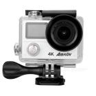 "AMKOV AMK8000 4K CMOS 2.0"" LCD 1080P 12MP Sport Camera - Black+ Silver"