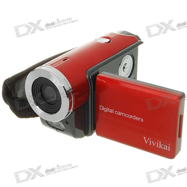 "Mini 1.3MP CMOS Digital Video Camcorder with 4X Digital Zoom/TV-Out/SD Slot (1.5"" LCD/3*AAA)"