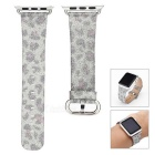 Leopard Pattern Leather Watchband w/ Attachment for APPLE WATCH 42mm