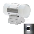 JIAWEN Outdoor Waterproof IP65 2 * 3W Aluminum Cold White Wall Light