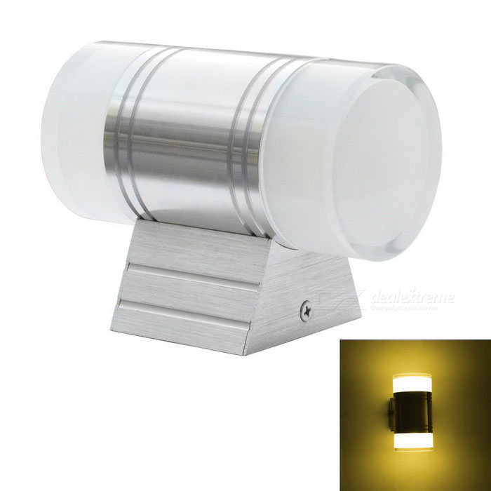 JIAWEN Outdoor Waterproof IP65 2 * 3W Aluminum Warm White Wall LightLandscape Lamps<br>Form  ColorWhite + SilverMaterialAluminum + PlasticQuantity1 DX.PCM.Model.AttributeModel.UnitWaterproof LevelIP65Power6WRated VoltageAC 85-265 DX.PCM.Model.AttributeModel.UnitChip BrandEpistarEmitter TypeCOBTotal Emitters2Theoretical Lumens480-520 DX.PCM.Model.AttributeModel.UnitActual Lumens480-520 DX.PCM.Model.AttributeModel.UnitColor BINWarm WhiteColor Temperature3000-3200KDimmableNoInstallation TypeWall MountOther FeaturesPower cord: 30cmPacking List1 * Wall light<br>