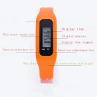 Unisex Sports Silicone Band LED Digital Wrist Watch - Orange (1 *AG10)