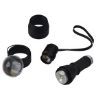 RichFire SF-360 1200LM 3-Mode Outdoor Zoom LED lanterna a mão-preto