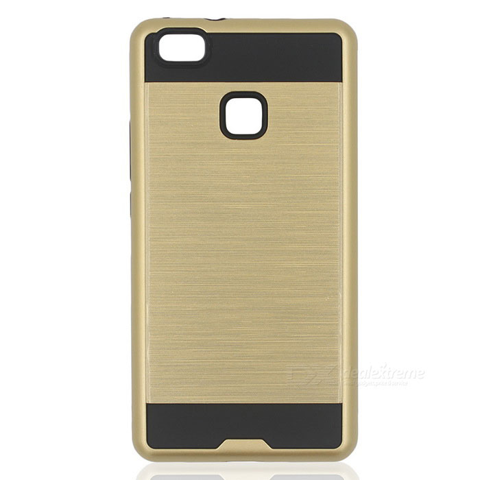 Protective PC + TPU Back Case for Huawei P9 Lite - Gold