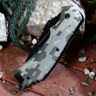 Multifunctional Half-Blade Folding Knife Camping Knife - Camouflage
