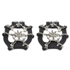 18-tooth Stainless Steel Shoes Chain Cleat Crampons (L / Pair)