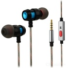 3.5mm Wired In-Ear Headset Earbuds with Microphone for Mobile Phone / PCs (Cable: 115cm)