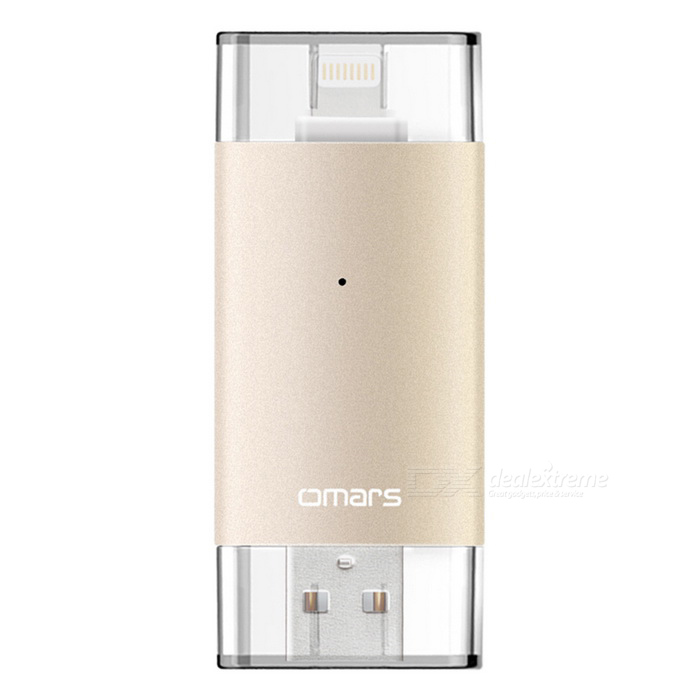 Omars mfi USB 3.0 OTG flash drive 64GB para IPHONE / IPAD / IPOD - ouro
