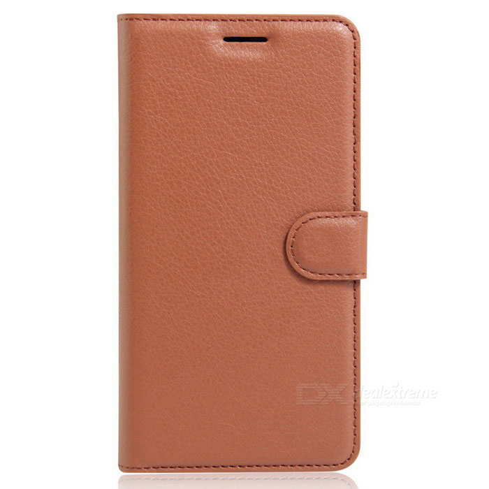 PU Leather Wallet Case w/ Card Slot + Holder for IPHONE 7 Plus - Brown
