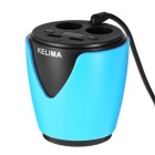 KELIMA Cup Style Car Cigarette Lighter Charger w/ Voltage Detection
