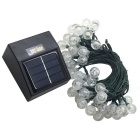 Joyshine 50-LED Solar Ball Style Christmas String Light Warm White