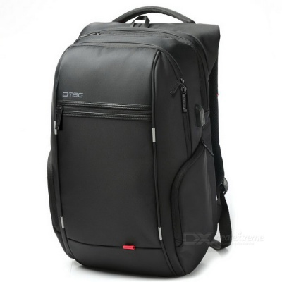 DTBG D8195W 17.3 Inch Laptop Storage Backpack w/ USB 2.0 Port - Black
