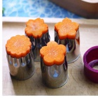 Stainless Steel Flower Type Vegetables Fruit Knife Cut Mould (8 PCS)