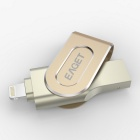 EAGET I80 64GB USB3.0 / Lightning OTG Flash Drive Disk for ios - Gold
