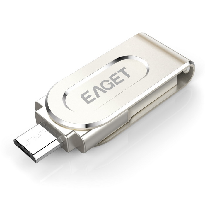 EAGET V88 64GB 360 Rotation USB3.0 OTG Flash Drive for Android -Silver