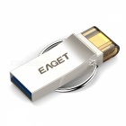 EAGET V90 64GB USB3.0 OTG Flash Drive Disk for Android - Silver