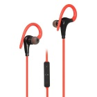 Wireless Bluetooth Sports Running Earhook Stereo Headset w/ Mic - Red