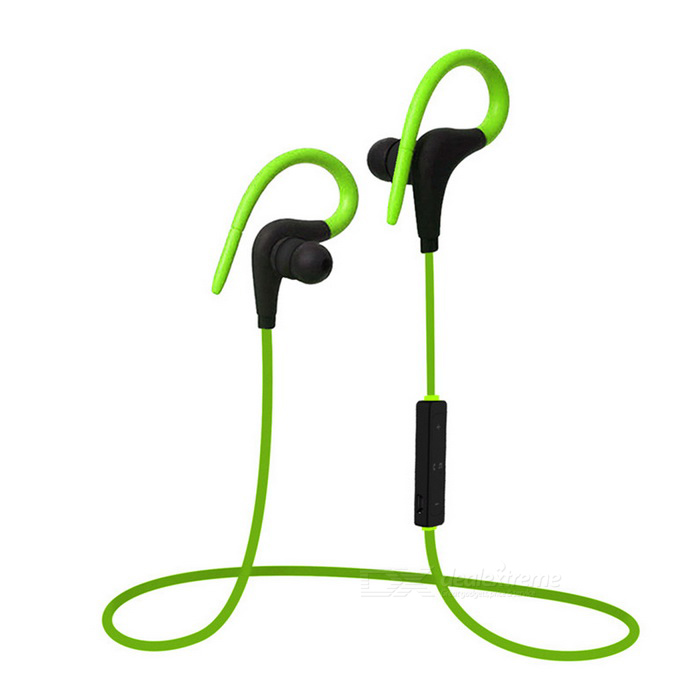 Wireless Bluetooth Esportes Running Earhook Estéreo Headset w / Mic-Verde