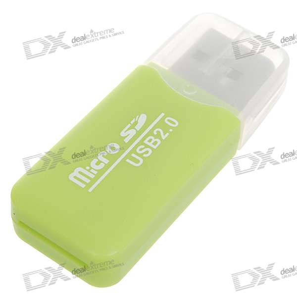 USB 2.0 Micro SD / TF Card Reader (Grün)