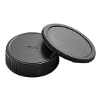 DSLR SLR Camera Body Cap + Lens Rear Cap Cover Set for Pentax - Black