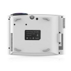 YG400 1000LM Mini Household LED Projector - Black + White (US Plugs)
