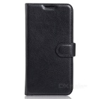 Lychee Pattern PU Wallet Case w/ Card Slots for Xiaomi 5S Plus - Black