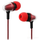 JEDX Bullet Head Style 3.5mm Plug Wired In-Ear Earphone - Red + Black