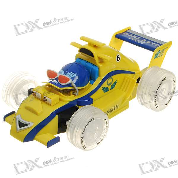 Rechargeable R/C Model Racing Car with 2-LED Head Light - 49MHz (1*6F22)