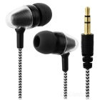 JEDX Bullet Head Style 3.5mm Plug In-Ear Earphone - White + Black