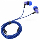 JEDX Bullet Head Style 3.5mm Plug Wired In-Ear Earphone - Blue + Black