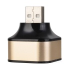 Cwxuan 1 USB Male to 3 USB Female Charge Adapter - Black + Gold