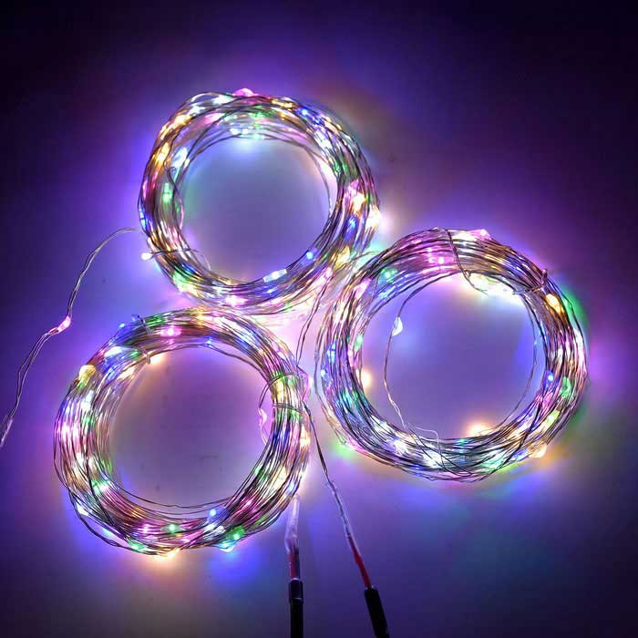 Colorful String Lights : WLXY 6W 100-LED DC 12V RGB Colorful String Lights (3 * 10m) - Free Shipping - DealExtreme