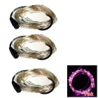 WLXY 3W 50-LED DC 12V Pink Light Decorative String Lights -  (3 * 5m)