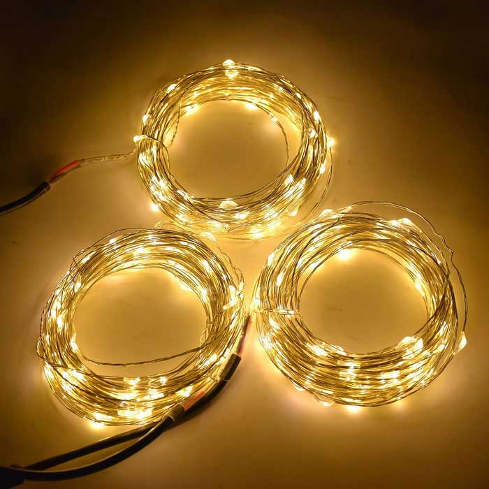 Led String Lights Dc : WLXY 6W 100-LED DC 12V Warm White Light String Lights (3 * 10m) - Free Shipping - DealExtreme
