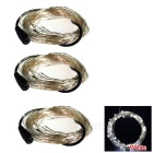 WLXY 3W 50-LED DC 12V Cold White Light String Lights - (3 * 5m)